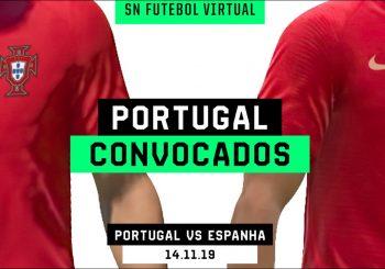 Revelados os convocados de Portugal para o amigável frente à Espanha