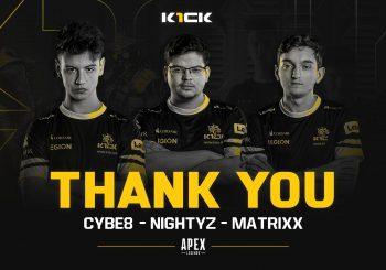 K1CK abandonam Apex Legends